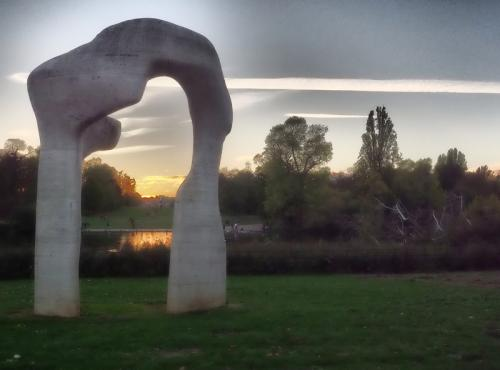 Softly softly sunset Henry Moore Hyde Park